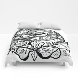 Python and iris flowers Comforters
