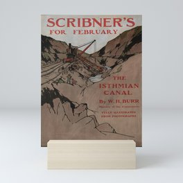 retro scribners for february   the isthmian canal. 1902  Mini Art Print