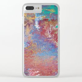 HOW THE WATER GOT TO THE LAND Fluid Series 2 Clear iPhone Case