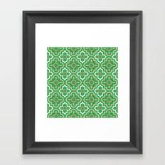 Medallions - Emerald Framed Art Print