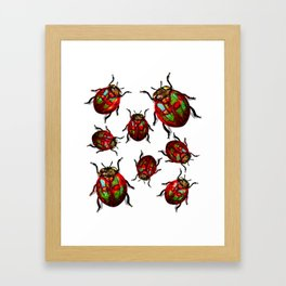 Agitated Lady Beetles Framed Art Print