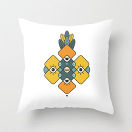 Five Eyes and Feathers Throw Pillow