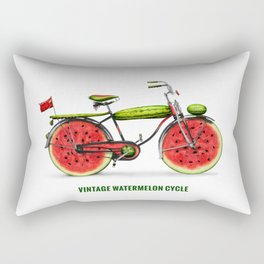 ORGANIC INVENTIONS SERIES: Vintage Watermelon Bicycle Rectangular Pillow