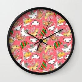 """""""Oro?"""" Christmas PINK Wall Clock"""