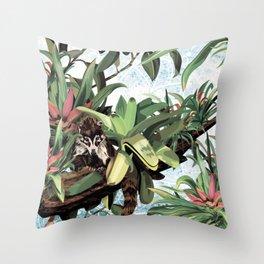 Ring tailed Coati Throw Pillow