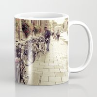 bikes Mugs featuring Bikes by Ines Valencia