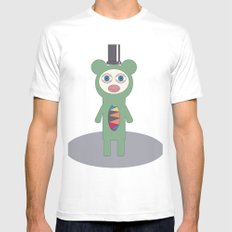 Mr Green MEDIUM White Mens Fitted Tee