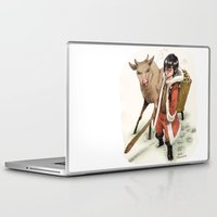 bouletcorp Laptop & iPad Skins featuring Kid Santa by Bouletcorp