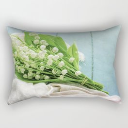 a bunch of lily of the valley Rectangular Pillow