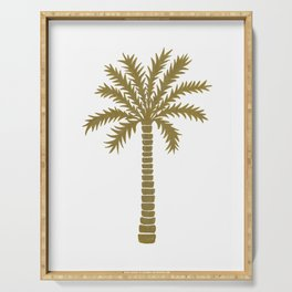 Gold Palm Tree Serving Tray