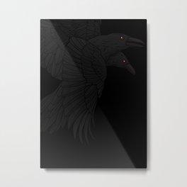 Odin's Ravens Metal Print
