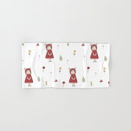Little Red Riding Hood Girl with Antlers Hand & Bath Towel