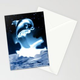Crystal Dolphin Stationery Cards