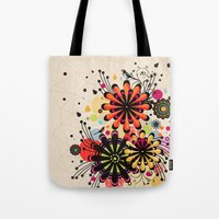 blossom Tote Bags featuring Blossom by Kakel
