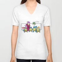 squirtle V-neck T-shirts featuring ninja squirtle by tama-durden
