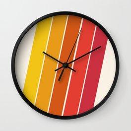Cool Beans - 70's retro throwback art stripes motif decor hipster Wall Clock