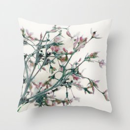Fantasies in the deep of winter Throw Pillow