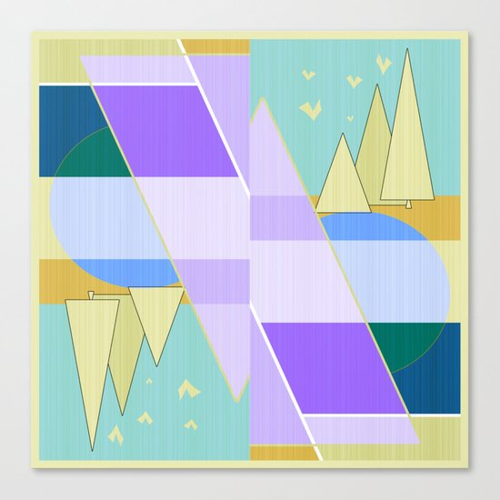 Abstraction in purple and blue colors .  Canvas Print