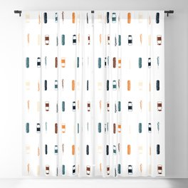 Vintage Vaccines - Small on White Blackout Curtain