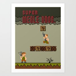 Super Merle Bros. Art Print