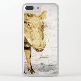 Golden warthog Jake Clear iPhone Case