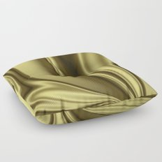 Abstract Fractal Colorways 02 Simple Gold Floor Pillow