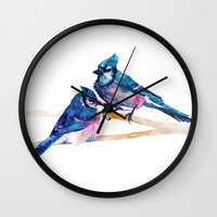 takmaj Wall Clocks featuring Blue Jays by takmaj