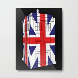 Tardis 3D UK flag Metal Print