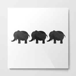 Three Baby Elephants Metal Print