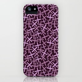 Lavander, Lilac & Wine Colors - X-Plosion Decorative Pattern iPhone Case