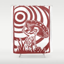 Amanita Guru Shower Curtain