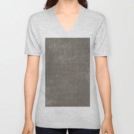Vintage pastel brown abstract geometrical stripes Unisex V-Neck