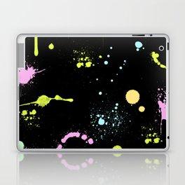 Neon paint splatter Laptop & iPad Skin