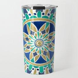 Mandala – Gold & Turquoise Travel Mug
