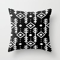 nordic Throw Pillows featuring BLACK NORDIC by Nika