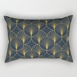 Golden Art Deco Moon Rays Rectangular Pillow