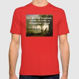 Orpheus Leading Eurydice to Strawberry Fields T-shirt