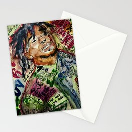 colorful hiphop,poster,lil,rap,artist,music,lyrics,colourful,poster,cool,dope,print,uzi Stationery Cards
