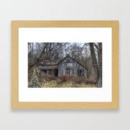 Vintage grandmas cabin Framed Art Print