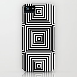 Square Optical Illusion Black And White iPhone Case