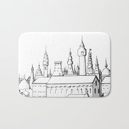 fabulous city . art . black and white Bath Mat