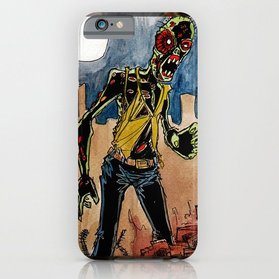 zombie in the ruins iPhone & iPod Case