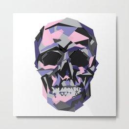 Geometric Skull Metal Print