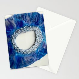 Geode Blue Stationery Cards