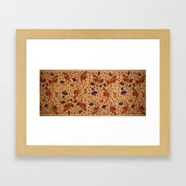 Hip wrapper Kain Panjang Pattern Framed Art Print