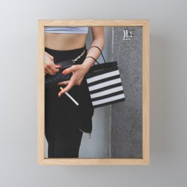 Smoking Girl, B Framed Mini Art Print