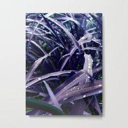 Blue Blades Metal Print