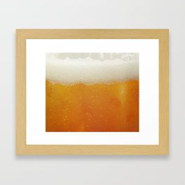 Beer Bubbles Framed Art Print