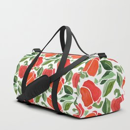 Red Bell Pepper pattern Duffle Bag