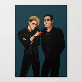 new men in black ft. Jace and Simon Canvas Print